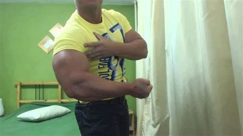 gabriel muscledominus flexing   tight shirt youtube