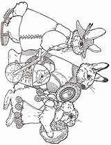 Easter Coloring Pages Parade Brett Jan Egg Eggs Janbrett Colouring Rabbit Coloriage Sheets Animal Printables Printable Adult Dessin Paques Designs sketch template