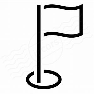 IconExperience » I-Collection » Golf Flag Icon