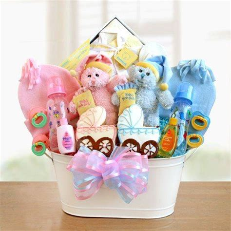home twins classic gift basket  baby twins