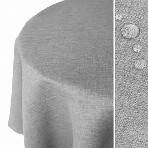 Tischdecke Rund 180 : leinen optik tischdecke rund 180 cm hellgrau real ~ Eleganceandgraceweddings.com Haus und Dekorationen