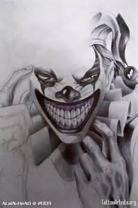 Joker Skull Tattoo Designs Drawings