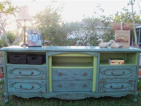 Convert An Old Dresser Into A Tv Stand By Taking Out The