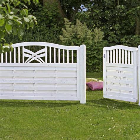 Sichtschutz Garten Holz Weiß holz sichtschutz zaun ronda wei 223