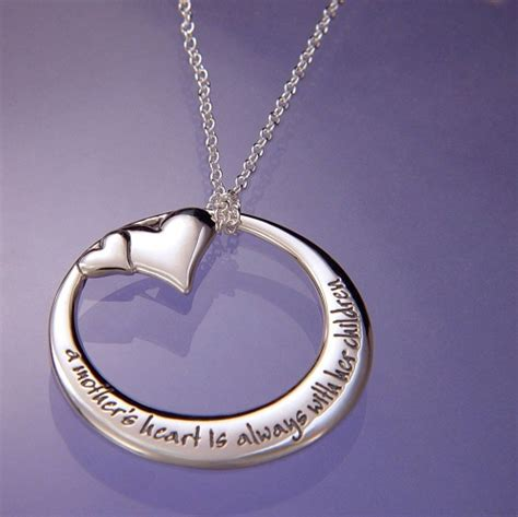 mother  heart memory necklace