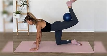 Squeezes Kick Fitness Ball Workout Popsugar Strip