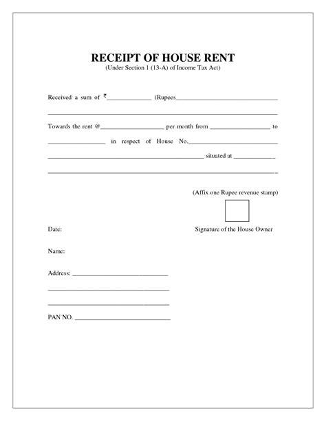 free house rental invoice house rent receipt invoice