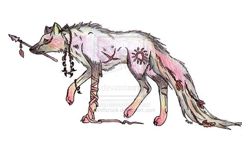 native american wolf  wolfzrock  deviantart
