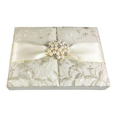 lace wedding invitations ivory gatefold box  large