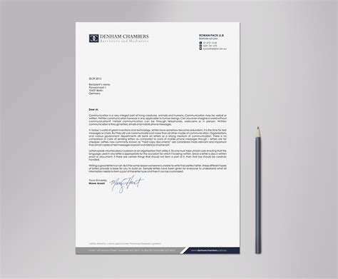 modern professional legal letterhead design