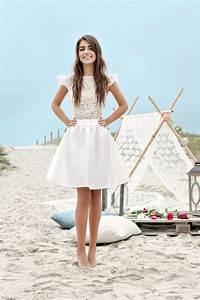 Robe De Mariee Courte : 15 robes de mari es courtes made in france blog mode en france ~ Preciouscoupons.com Idées de Décoration
