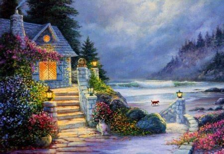 Dream Cottage  Other & Abstract Background Wallpapers On