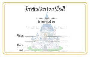 cinderella ball invitation