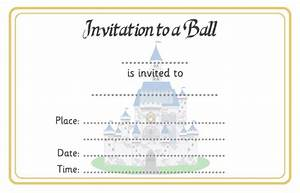 Cinderella ball invitation free early years primary for Cinderella invitation to the ball template