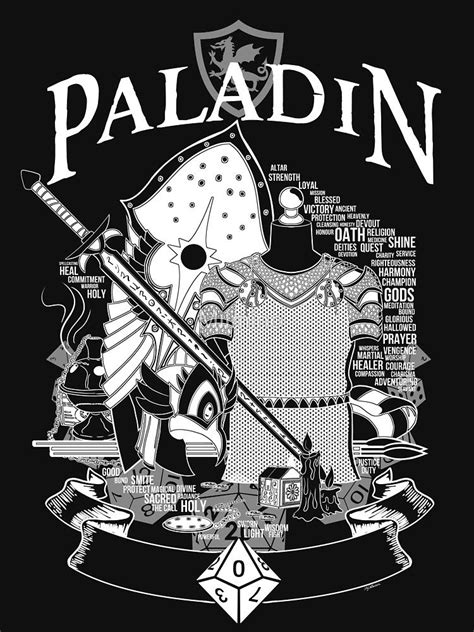 RPG Class Series: Paladin - White Version | Unisex T-Shirt