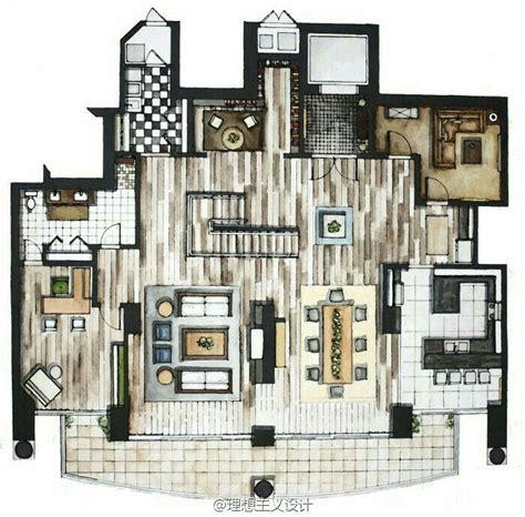 Interior Floor Plans by Rendered Floor Plan Interior Design Interior Design