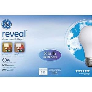 ge reveal 60w light bulbs only 1 99 per 8 pk at staples