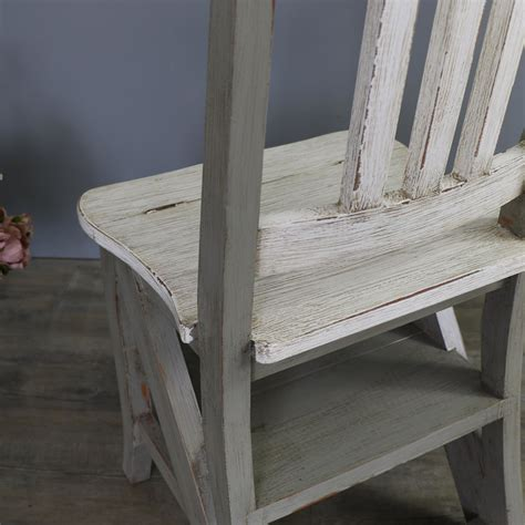 rustic wooden folding chair step ladder melody maison 174
