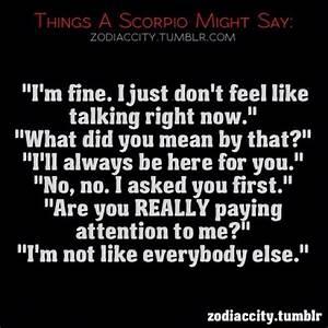Scorpio Quotes ... Zodiac Sign Scorpio Quotes