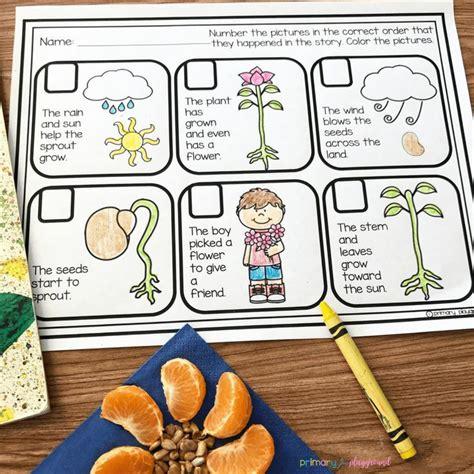 literacy snack idea flowers read aloud primary