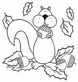 Coloring Acorn Squirrel Pages Eat Sheets Fall Printable Squirrels Colouring Sheet Print Cartoon Adult Toddlers Colornimbus Craft Drawings Coloriages Getcolorings sketch template