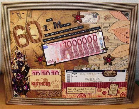 geldgeschenke zum 60 mamapias stempelecke die erste million zum 60 geburtstag geschenkideen geschenke