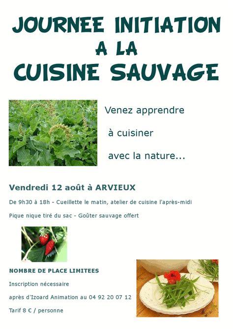 cuisine sauvage izoard animation journée initiation cuisine sauvage