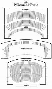Seating Chart Cadillac Palace Theatre Chicago Les Miserables Interactive Seating Plan