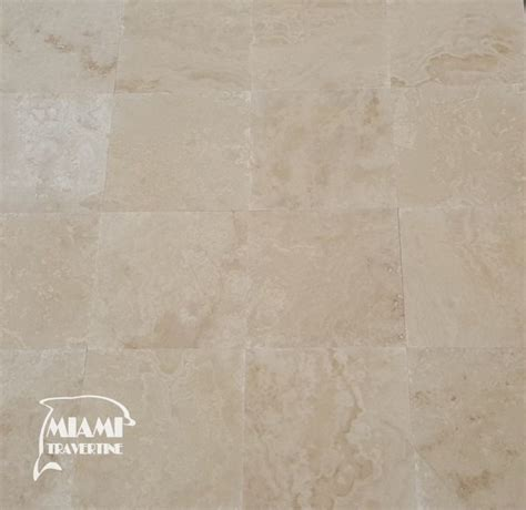 tile miami travertine tile filled honed 18x18 ivory classic miami travertine