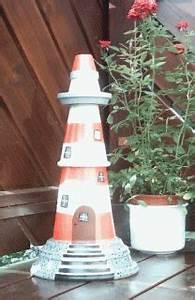 Leuchtturm Für Den Garten : leuchtturm aus tont pfen basteln bastelfrau ~ Frokenaadalensverden.com Haus und Dekorationen