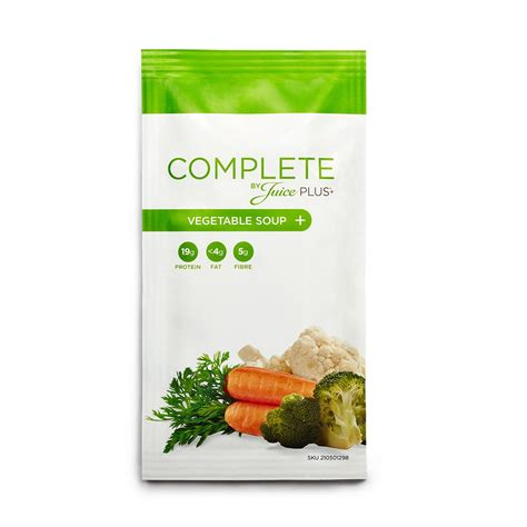 complete  juice  vegetable soup  pouches