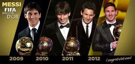 Lionel Messi Get The FIFA Ballon d'Or Award