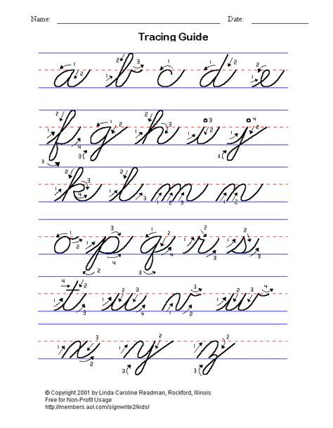 cursive letters   basic handwriting  kids cursive