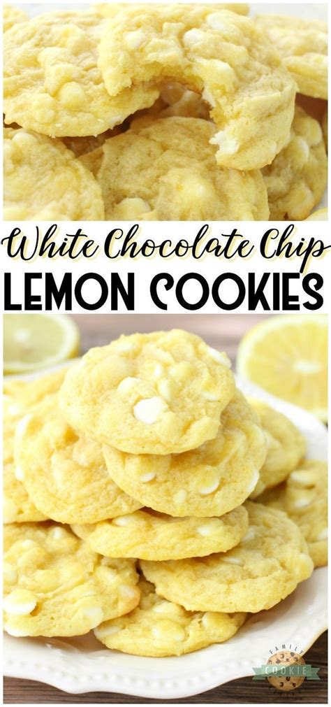 My grandmother, who bakes for everyone else but rarely eats her own goodies just loves these. White Chocolate Chip Lemon Cookies | Recipe | Lemon ...