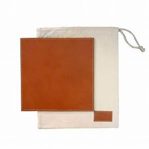 Tapis de souris cuir buffle quart de poil for Tapis couloir avec canapé cuir tannage végétal