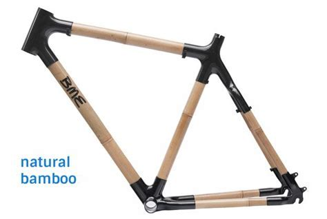 Natural bamboo bicycle frame by BME Design. Custom made