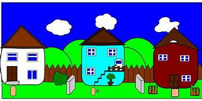 Door Clipart Neighbors Fiction Neighborhood Clip Road