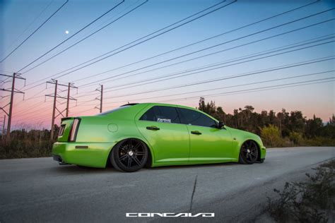 bagged cadillac sts   cw  concavo wheels