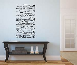 sayings wall decals typography hallway lounge vinyl With cheap vinyl lettering for walls