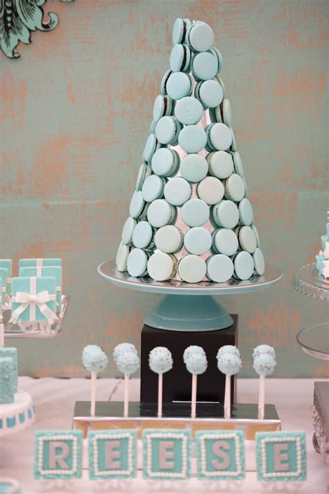 modern breakfast  tiffanys inspired birthday party