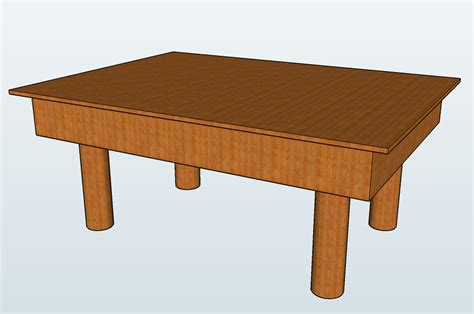 Filewooden Table  Sketchuppng  Wikimedia Commons