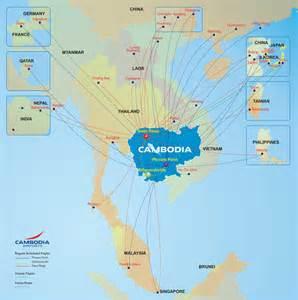 International Airports Cambodia Maps