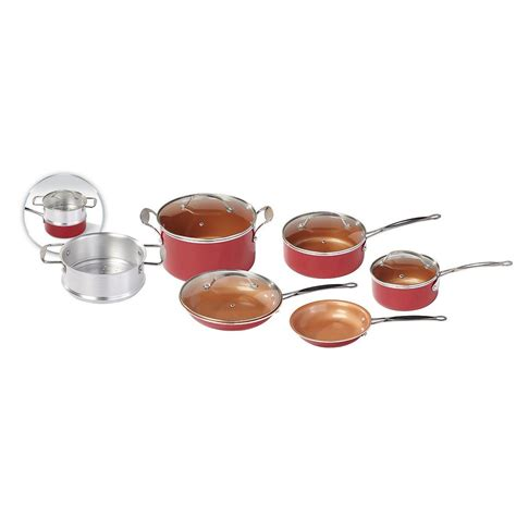 red copper  pc nonstick ceramic cookware set bruin blog