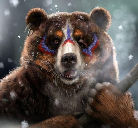 bear fantasy abstract background wallpapers  desktop