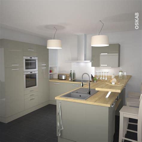 casanaute cuisine idée relooking cuisine cuisine classique couleur argile implantation en u plan de travail