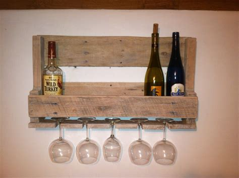 wood pallet wine rack small reclaimed wood pallet wine rack with wine glass holder