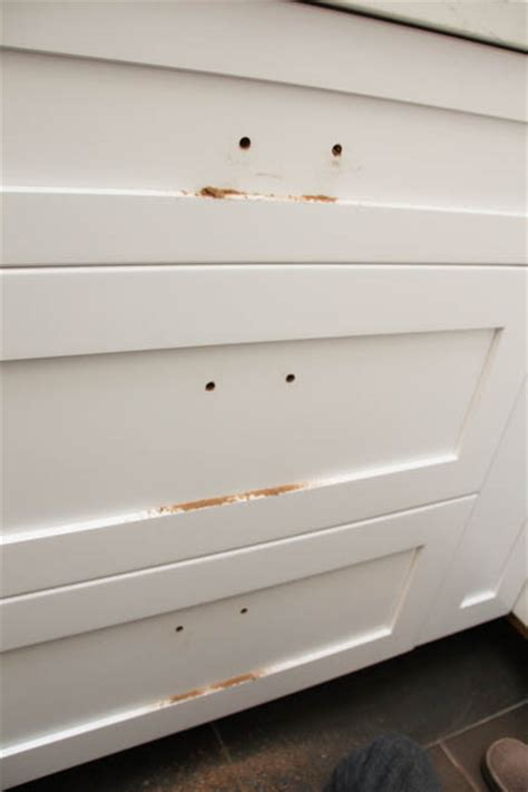 Kitchen Cabinet Knobs How To Install by How To Install Cabinet Knobs With A Template A Trick For
