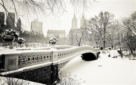 Bridges Cities Winter Black White Wallpaper 1920x1200
