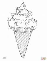 Ice Cream Coloring Cone Pages Printable Drawing Snow Template Dot Paper Desserts Puzzle sketch template