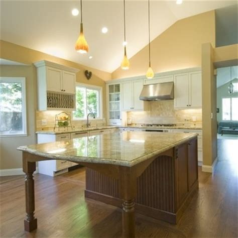 It can also either match the counter or contrast with it. kitchen island with extended table | For the Home | Pinterest